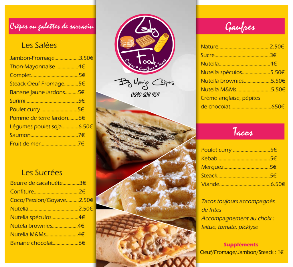 menu design infographie guadeloupe