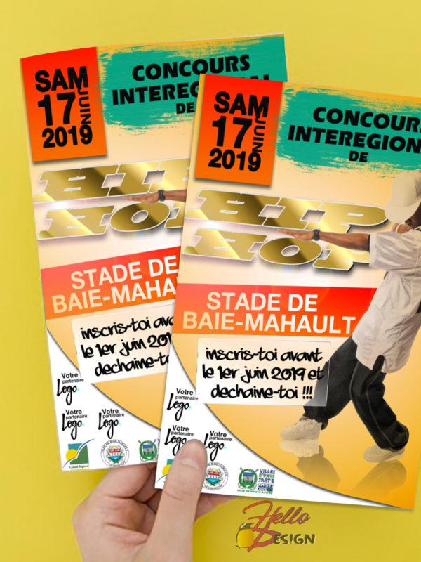 Flyer concours de danse Hip-Hop