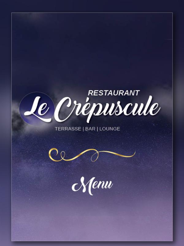 Design de menu pour restaurant