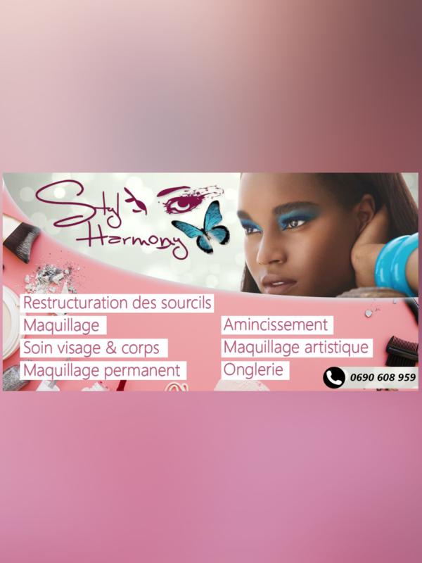 Affiche pour activité de maquillage